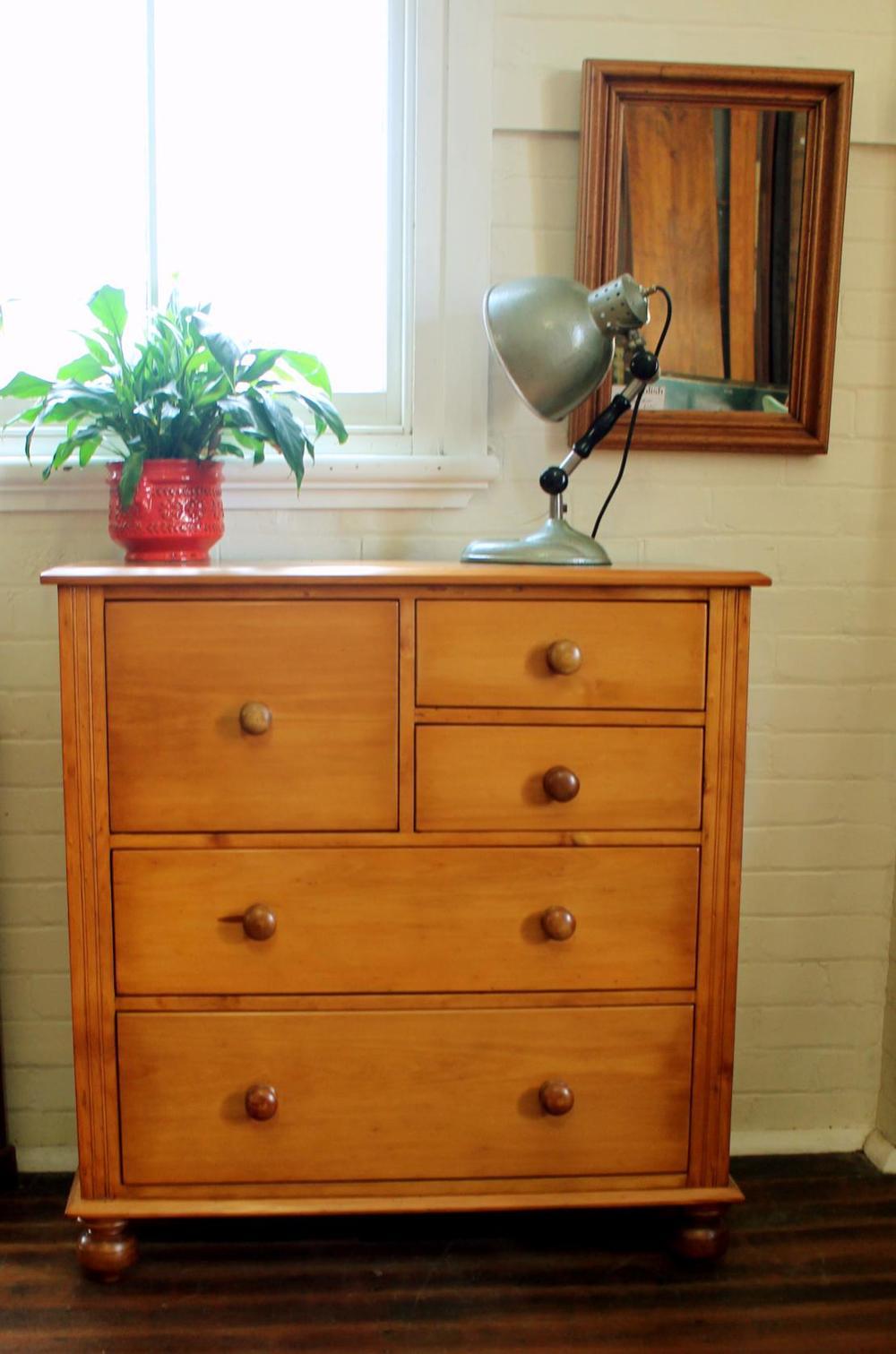 Antique Hoop Pine chest of Drawers.jpg
