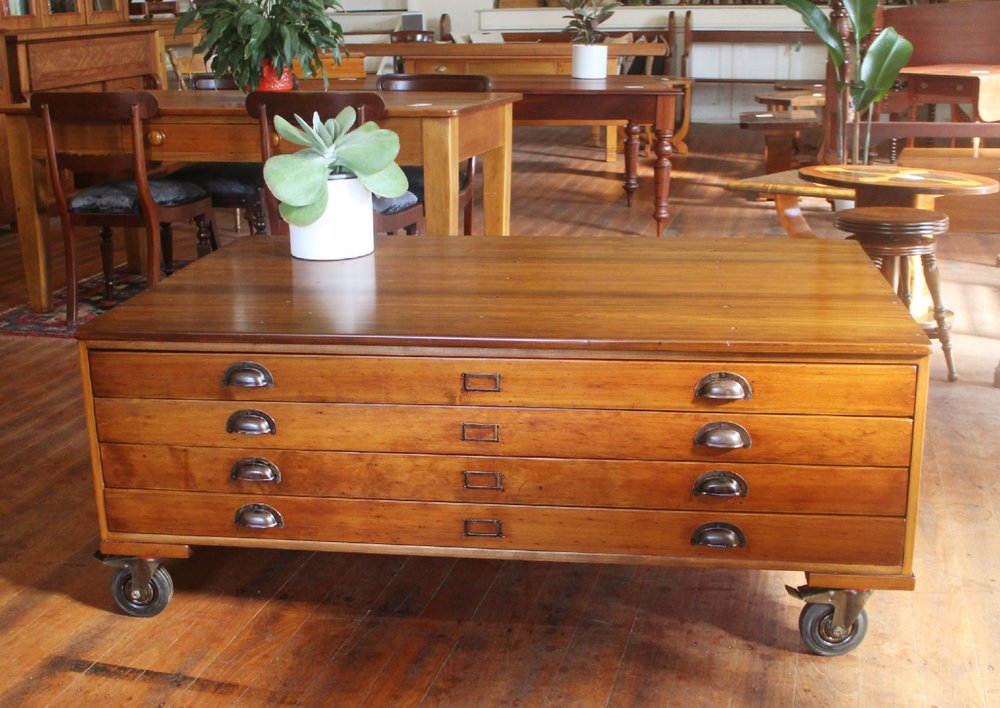 antique vintage map drawers