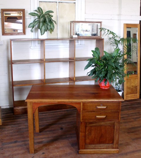 A small Australian Rosewood and Maple Desk