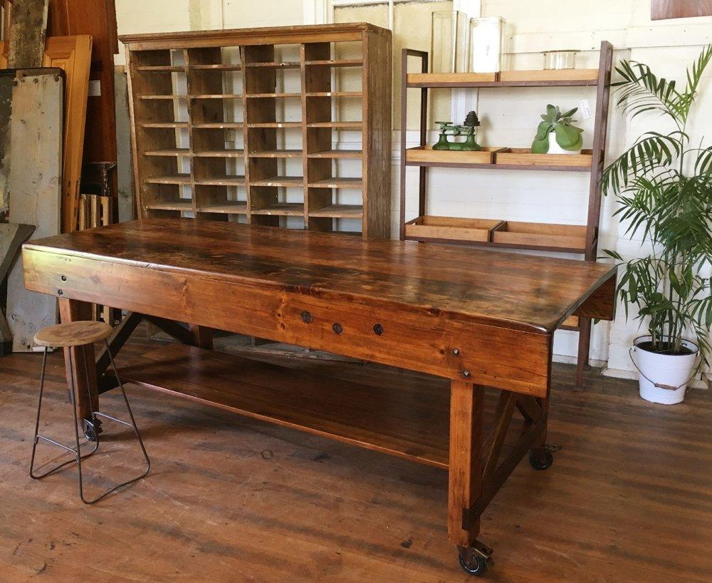 1940's Hoop Pine Cabinet Maker's Bench  a.jpg