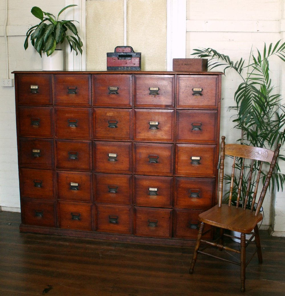Rare Hoop Pine Filing Drawers.jpg
