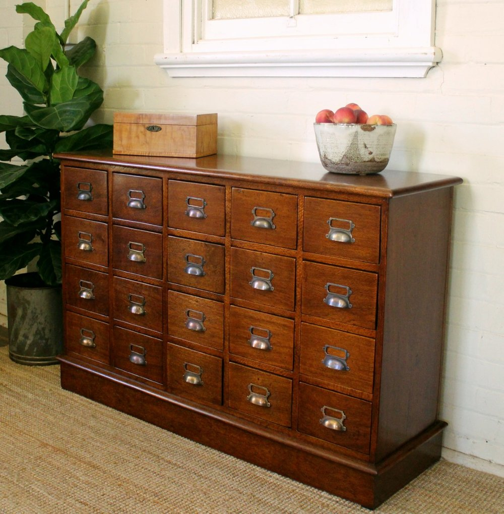 Antique Silky Oak Filing Drawers.jpg