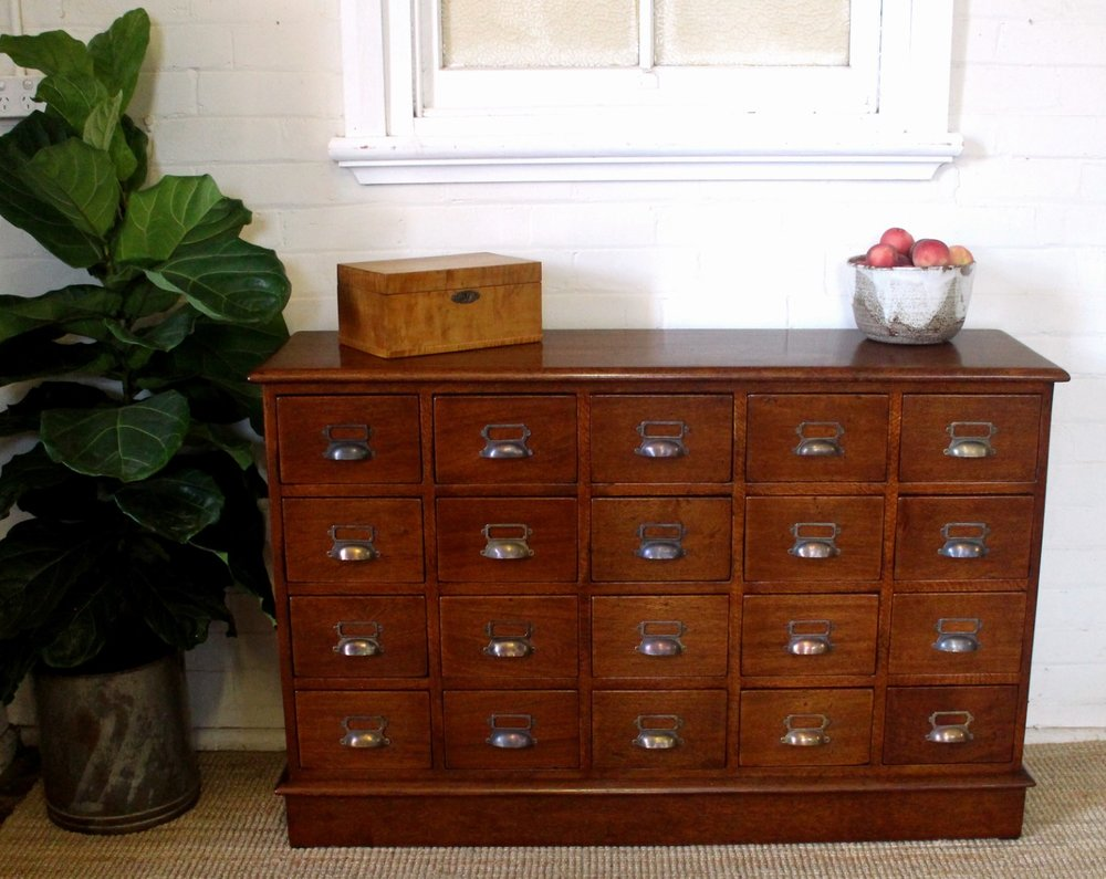 Vintage Silky Oak Filing Drawers.jpg