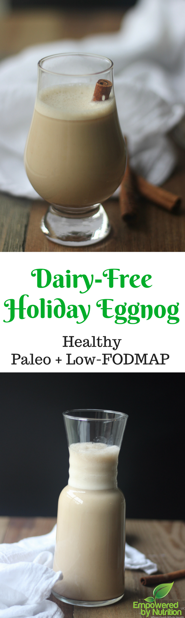 Paleo dairy-free lactose-free low-FODMAP holiday Eggnog drinks