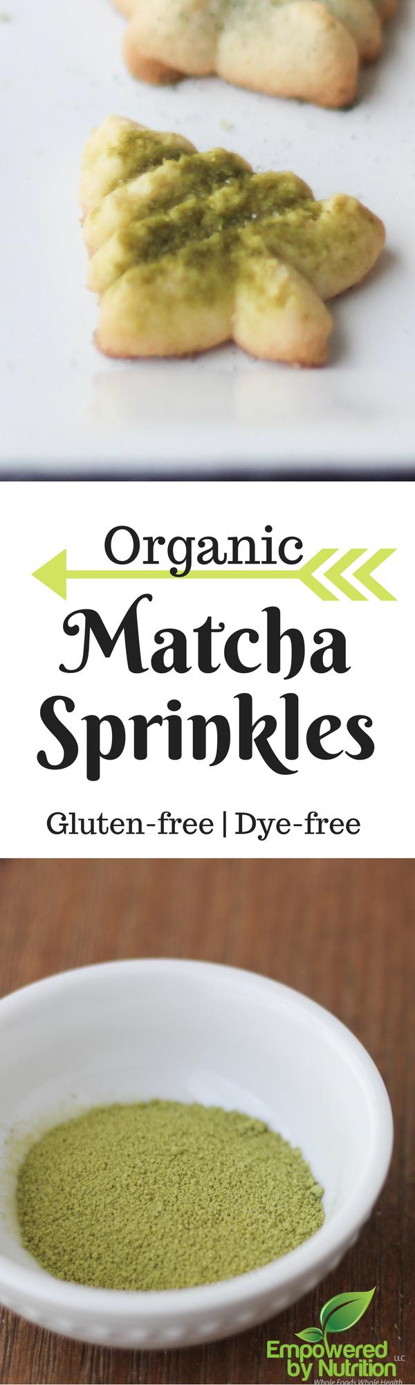 Gluten-free dye-free matcha sprinkles