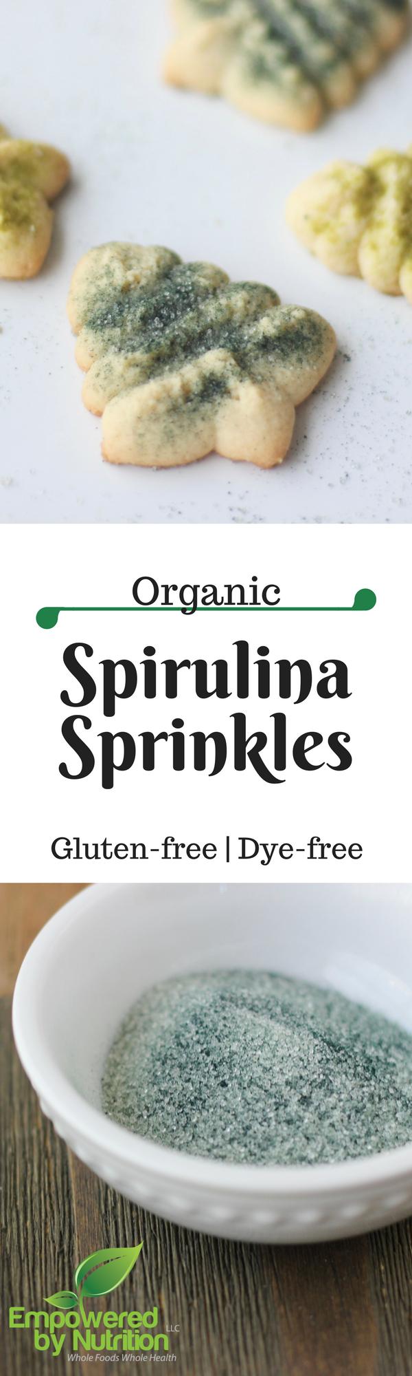 gluten-free organic spirulina sprinkles