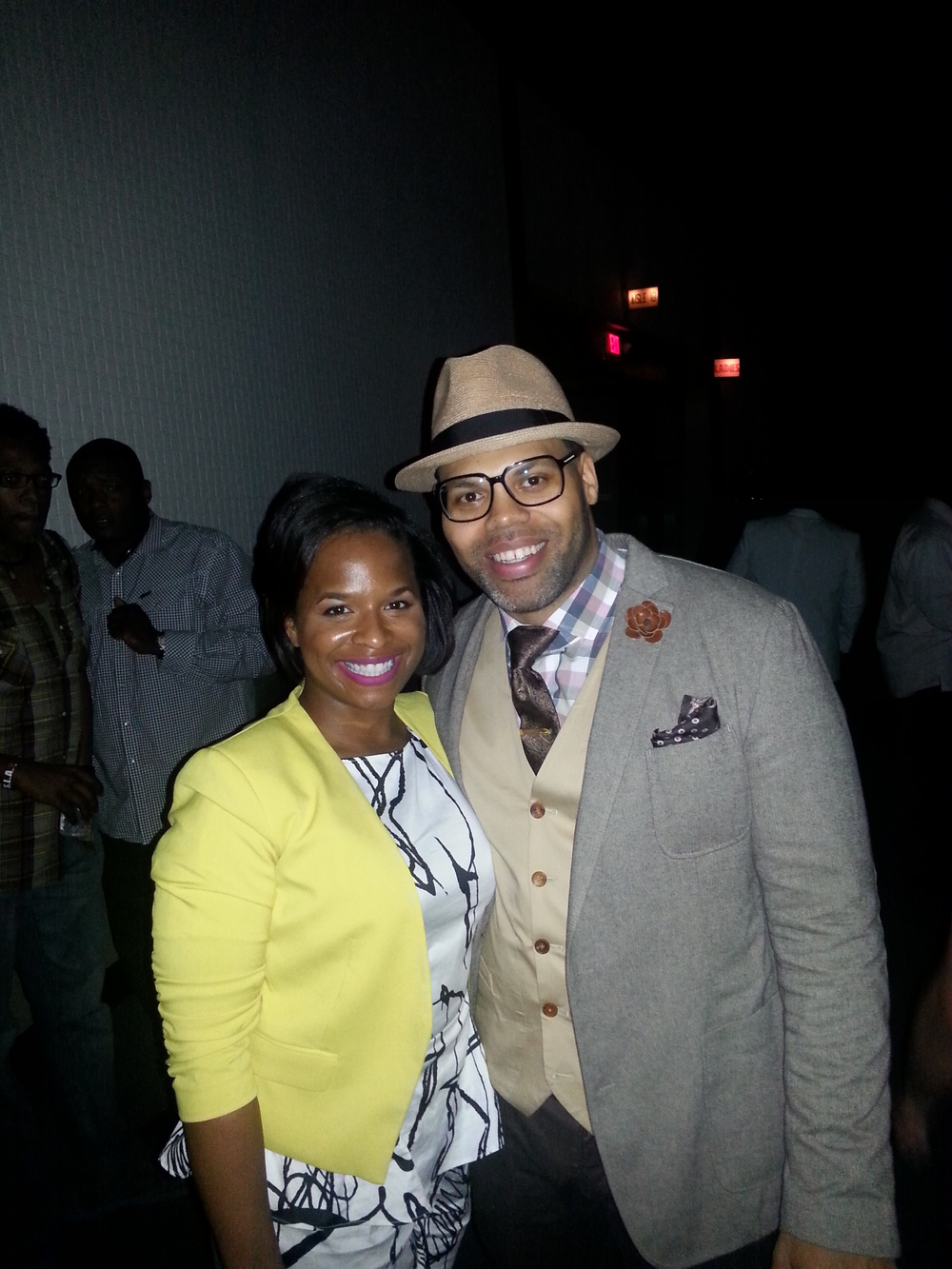 Eric Roberson and I after his performance at the Houston Arena Theater