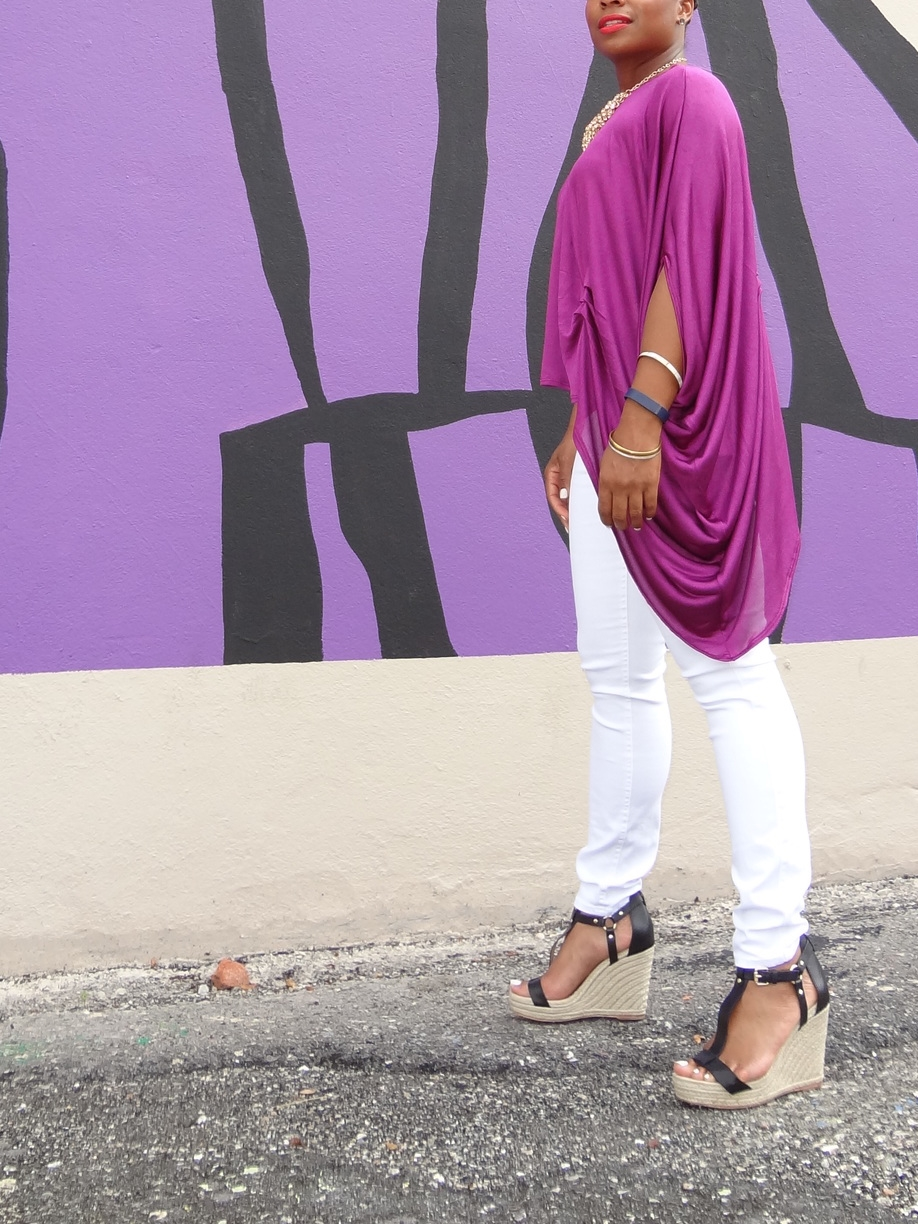 Off Shoulder DIY silk shirt by 3degreesDB.com