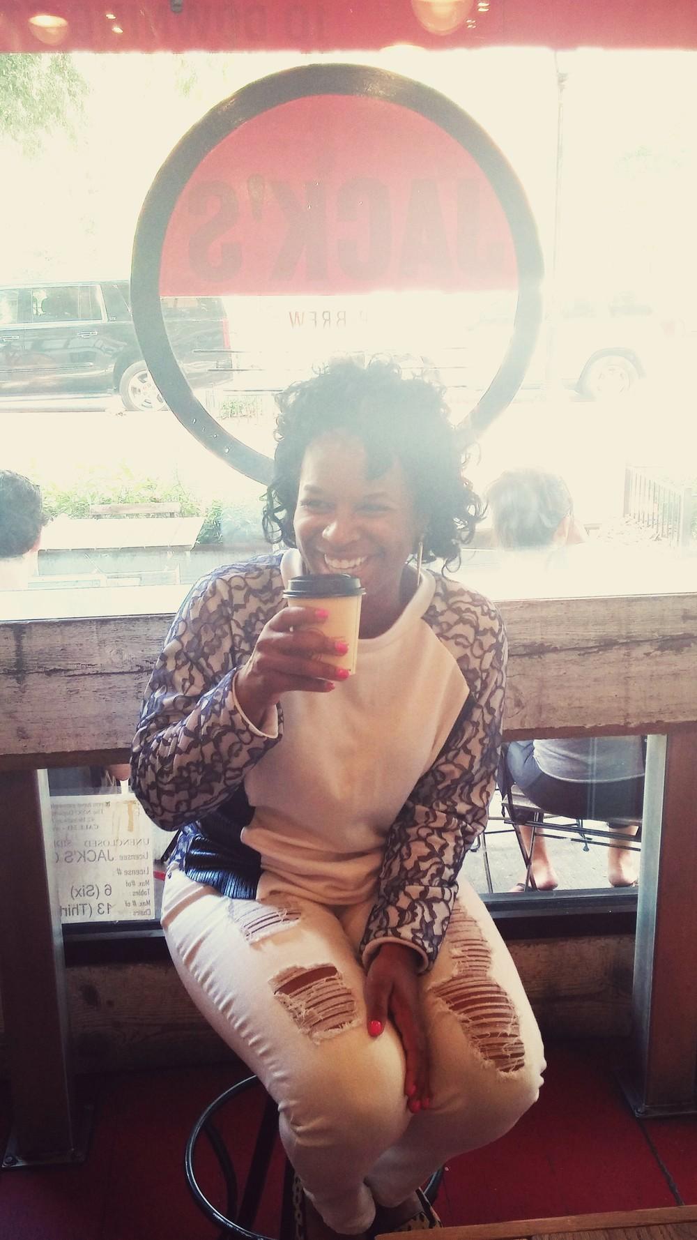 Enjoying stirbrew coffee at Jack's Stirbrew Coffee  Sweatshirt -DIY