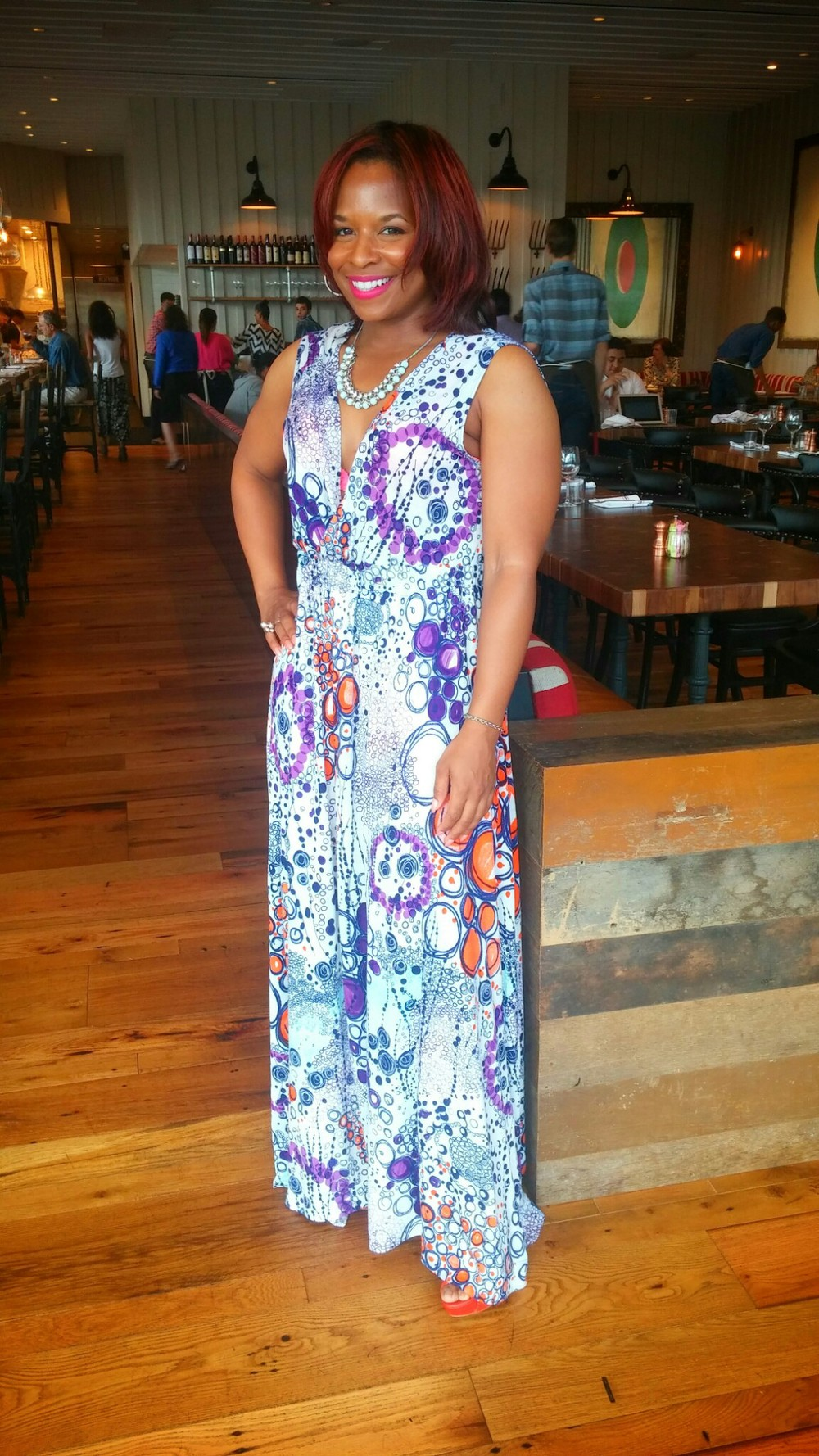 DIY Wrap Maxi Dress on www.3degreesDB.com