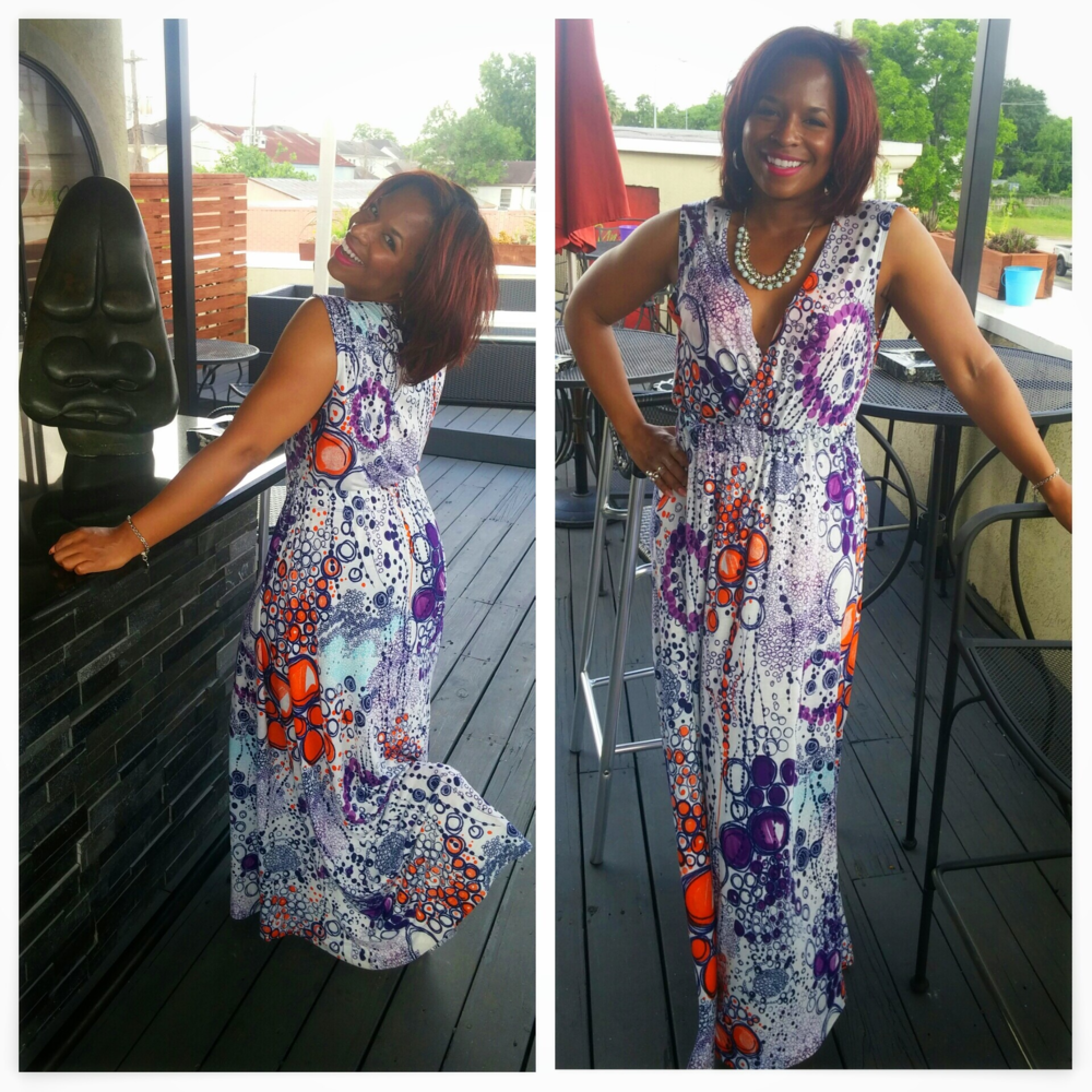 DIY Faux Wrap Maxi on www.3DegreesDB.com