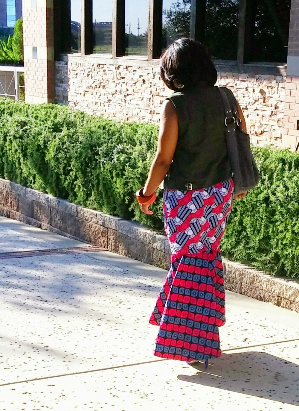 DIY Ankara Print Flounce Skirt on www.3DegreesDB.com