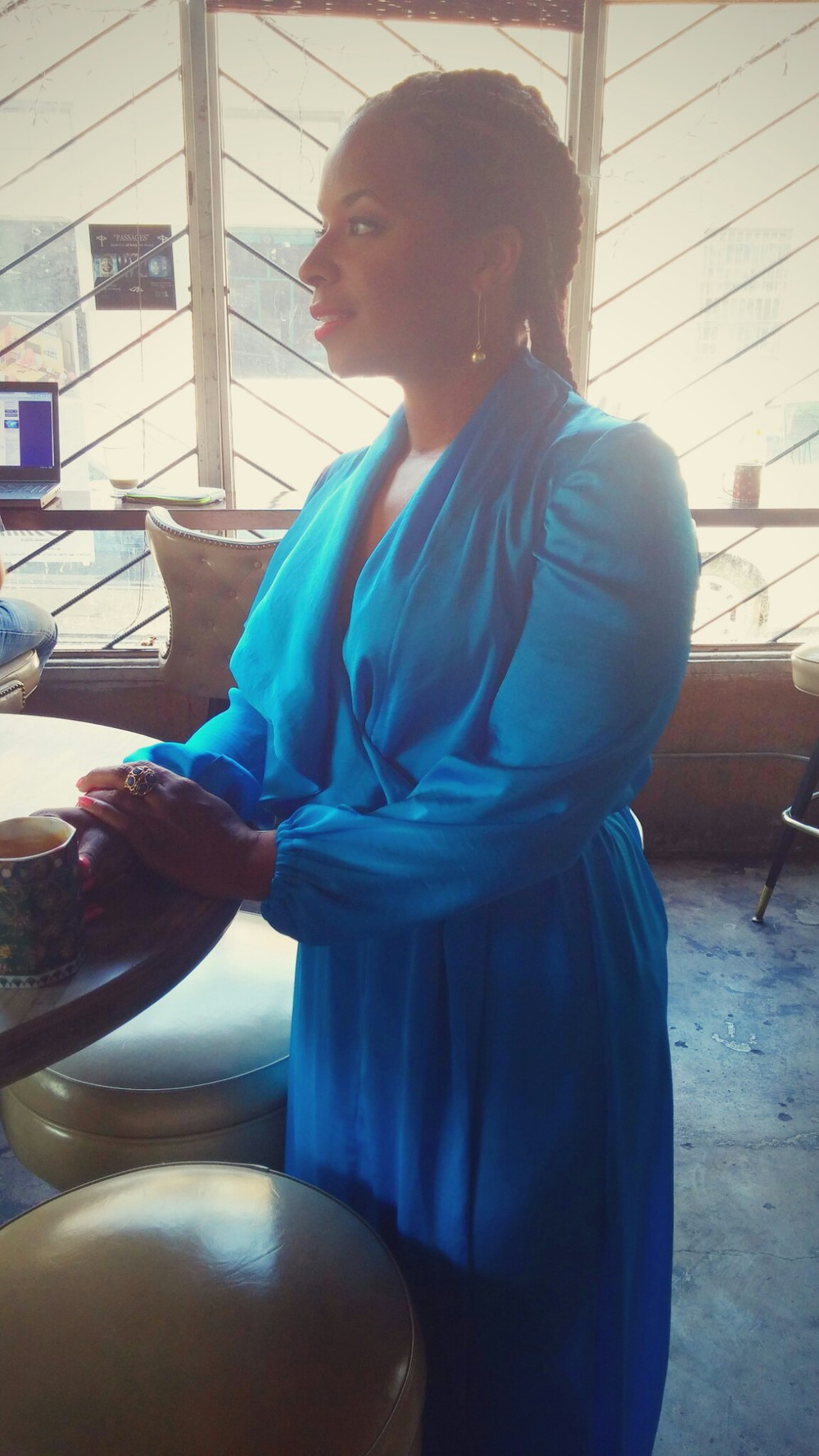 Royal Blue Wrap Dress on www.3DegreesDB.com