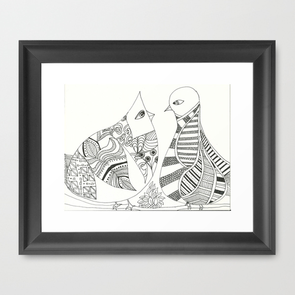 "Titled ""Nice to meet you""  9"" x 12"" print. available at  www.freeartmovement.etsy.com"