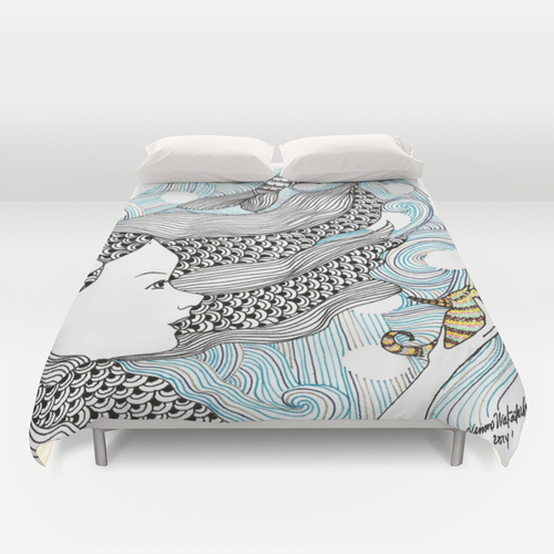 Mermaid Duvet Queen Size Cover $99