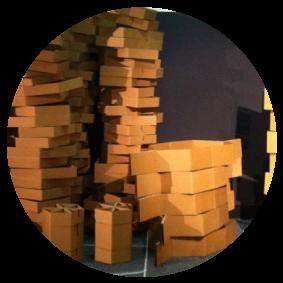 Cardboard Booth and Furniture