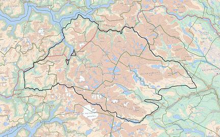 Forslag til avgrensing av planområdet/utredningsområdet, jfr. planprogram. Kartarbeid: Norsk Villreinsenter