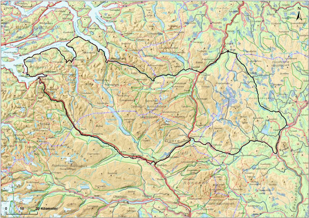 snøhetta kart Snøhetta Knutshø — Norsk Villreinsenter snøhetta kart
