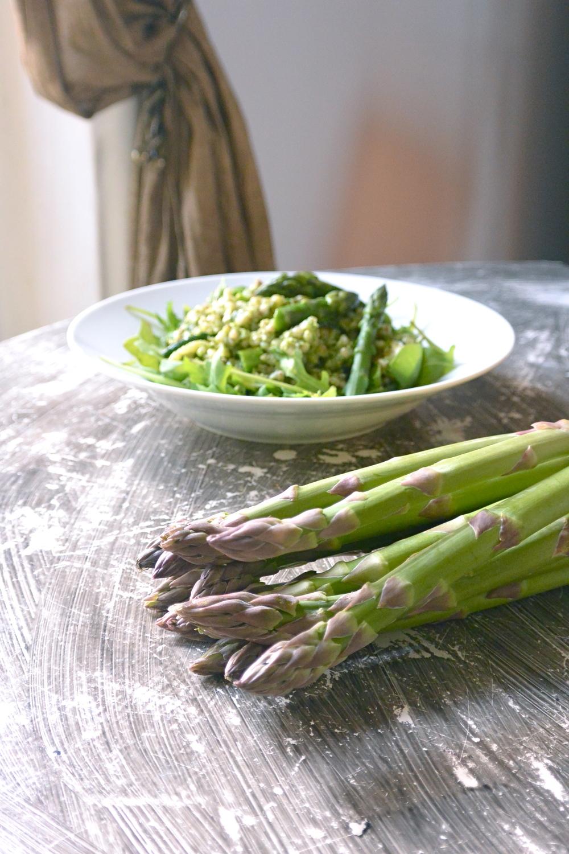 courgette, rocket, asparagus