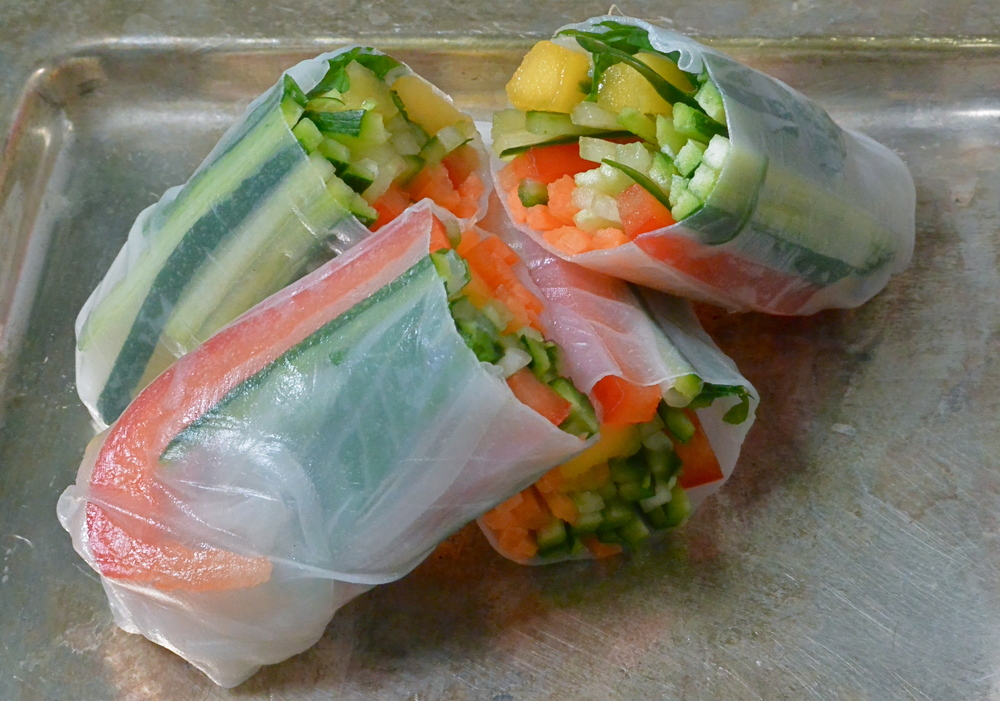 Raw Vegetables Rice Paper