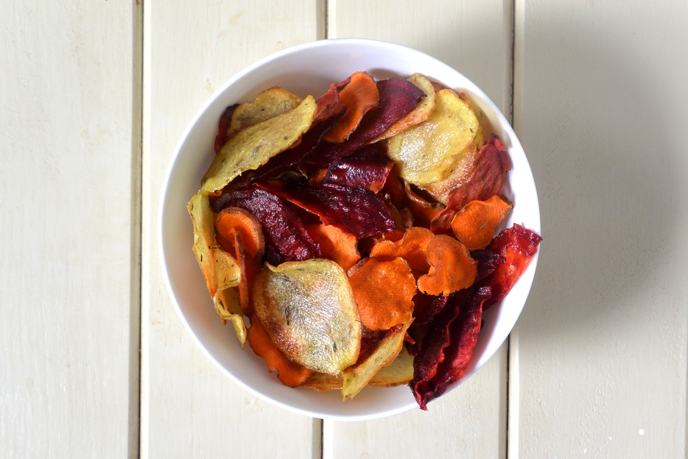 Baked Root Vegetable Crisps