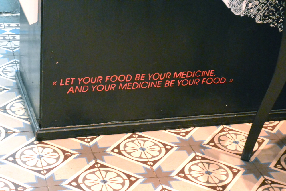 Let your food be your medicine...