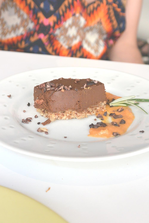 Raw Chocolate Tart at Pousse Pousse