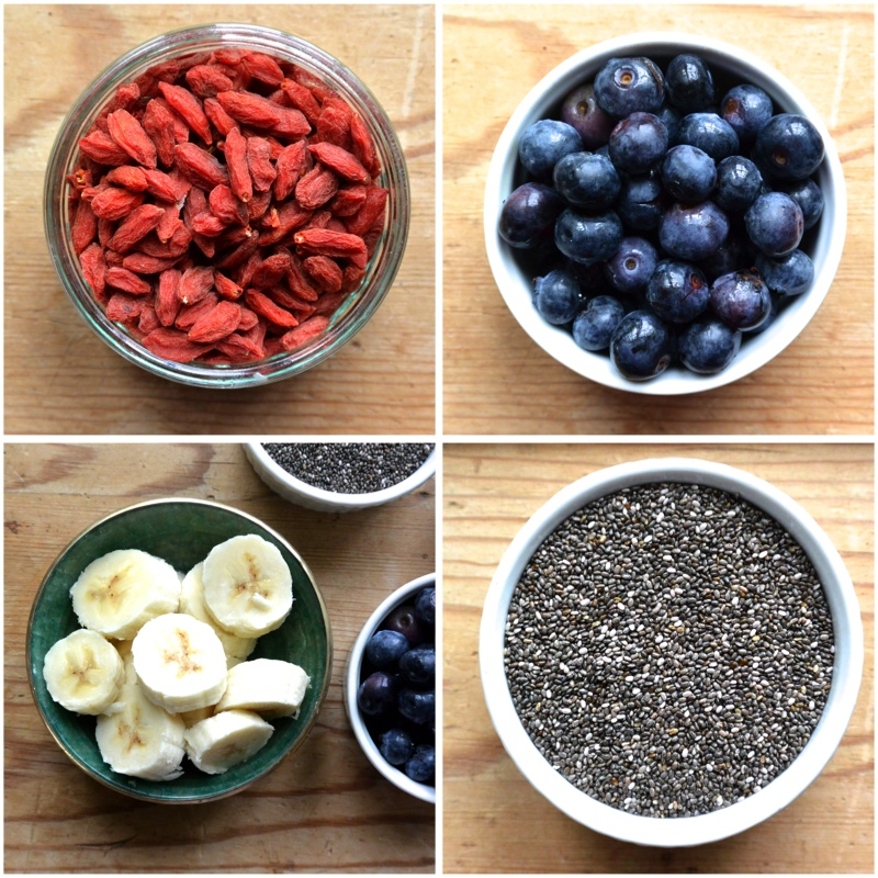 Blueberry Pancake Ingredients