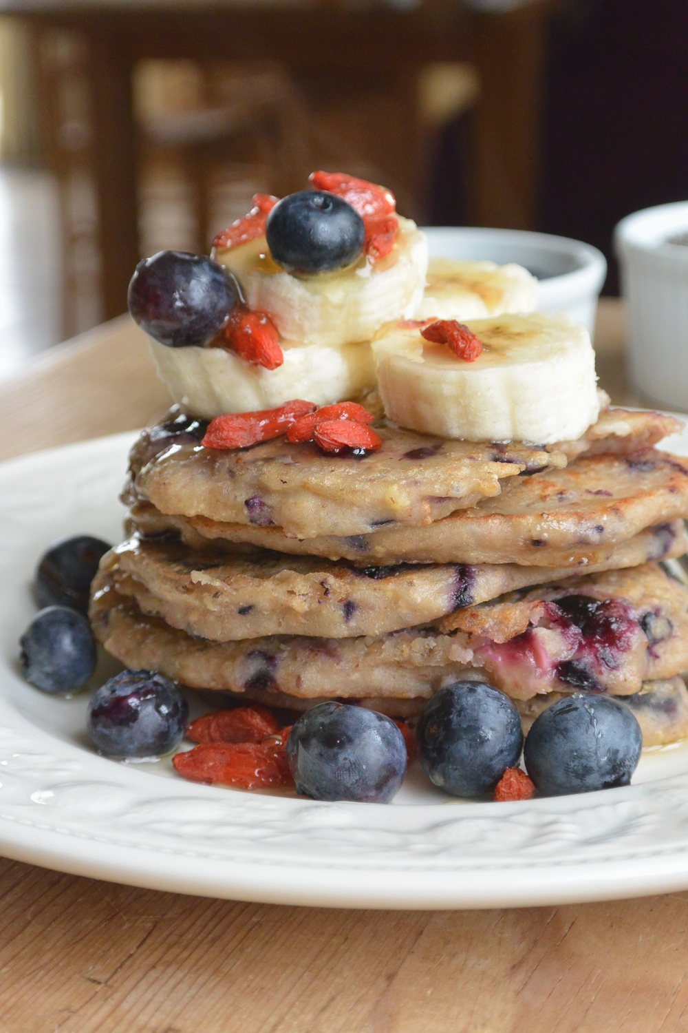 Vegan Blueberry and Banana Pancakes