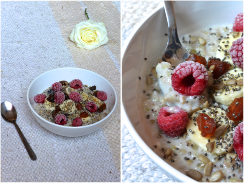 Buckwheat Porridge with Cinnamon Hazelnut Milk | The Herb Diaries