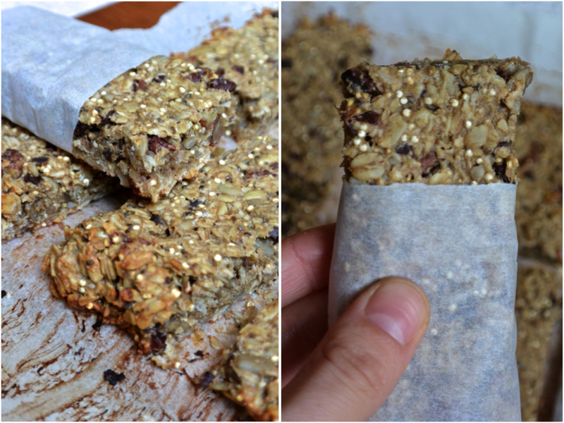 Nutty Granola Bars with Cacao Nibs and Honey | The Herb Diaries
