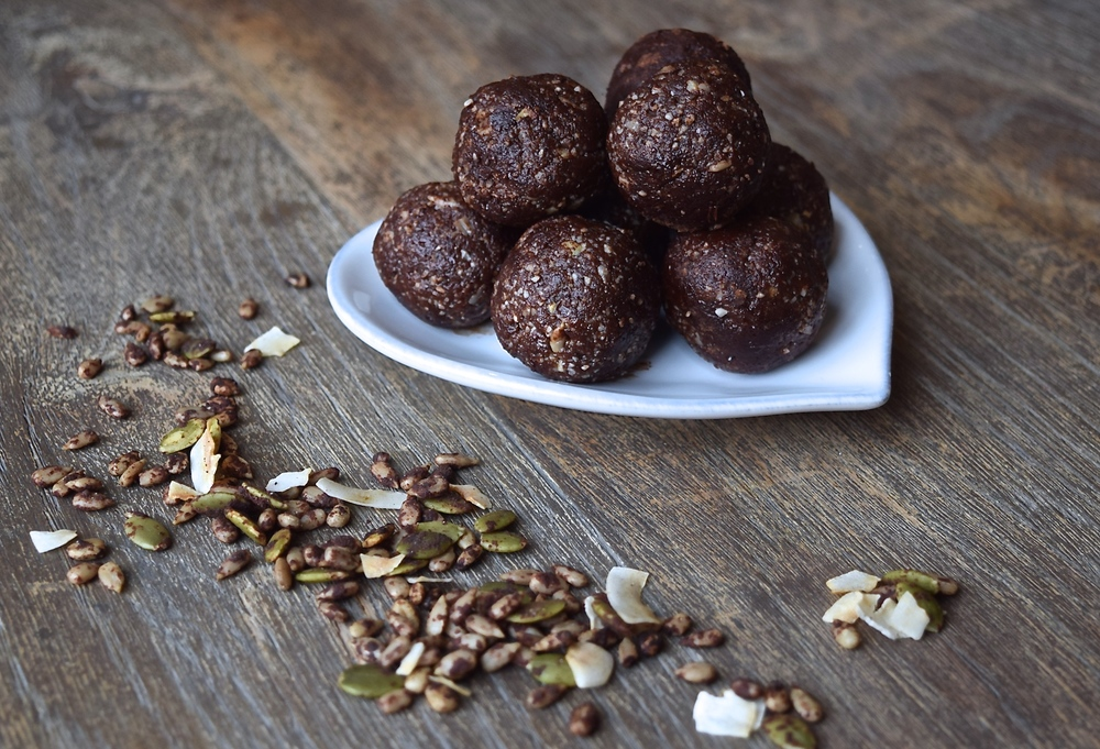 Coco Cacao Energy Balls | The Herb Diaries