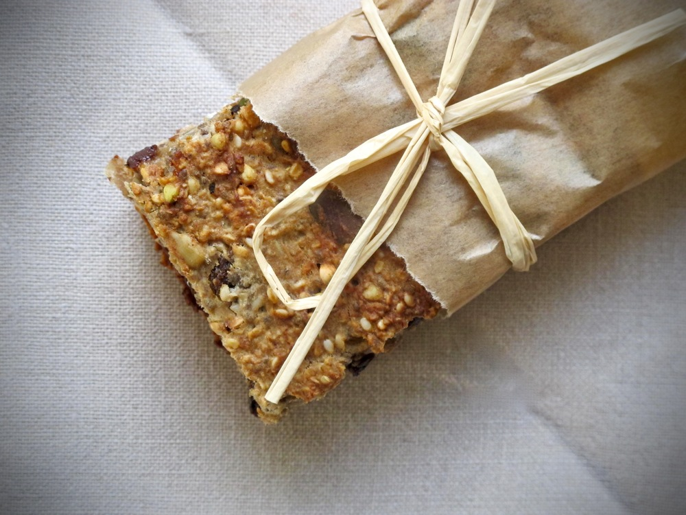 Hemp, Banana and Buckwheat Breakfast Bars | The Herb Diaries