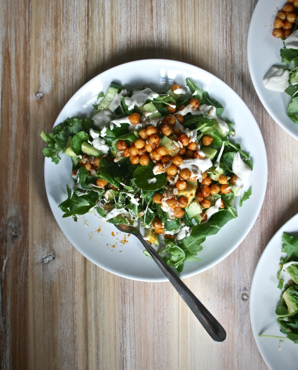 Chickpea Caesar Salad | The Herb Diaries