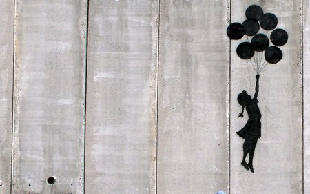 Banksy's  Balloon Girl , 2003.