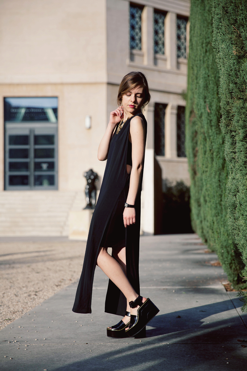 Anna: Dress, Helmut Lang, Shoes,