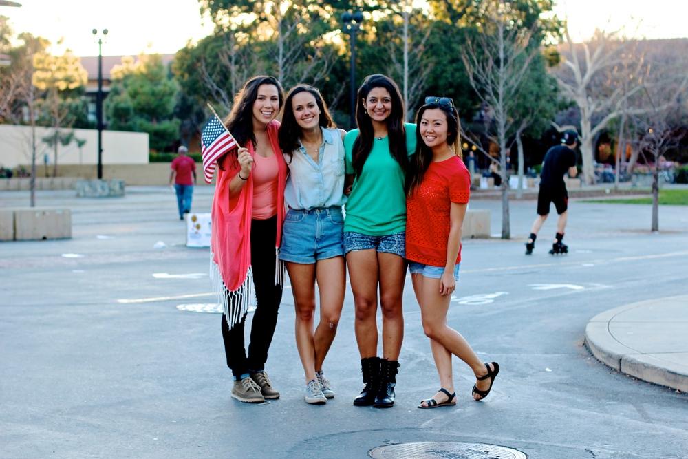 Jenna Leonardo '15,   Katie Kirsch '16   Natalya Thakur '15,  and Rachel Chung '15
