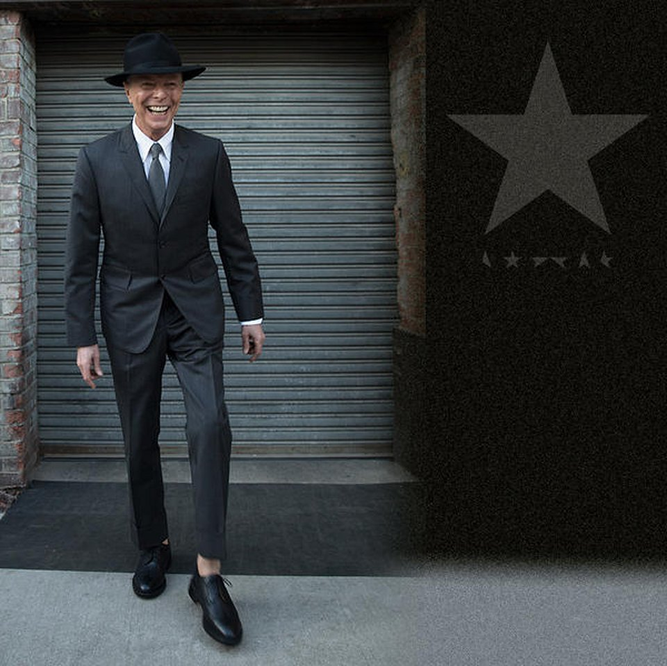 David Bowie wearing Thom Browne in his last photoshoot. Image courtesy of Vogue.com