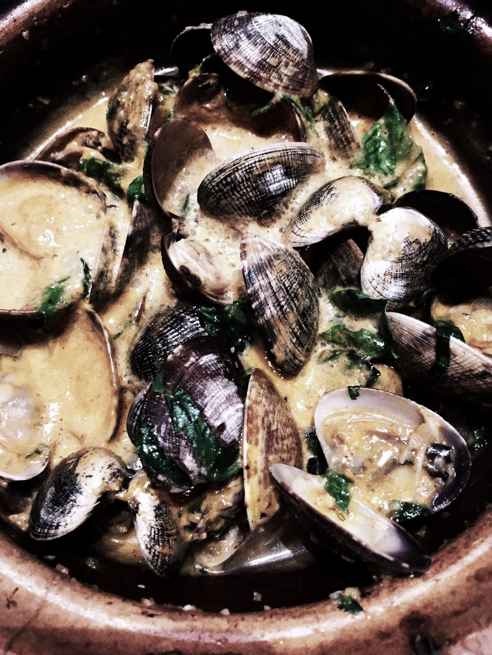 manila clams in coconut curry