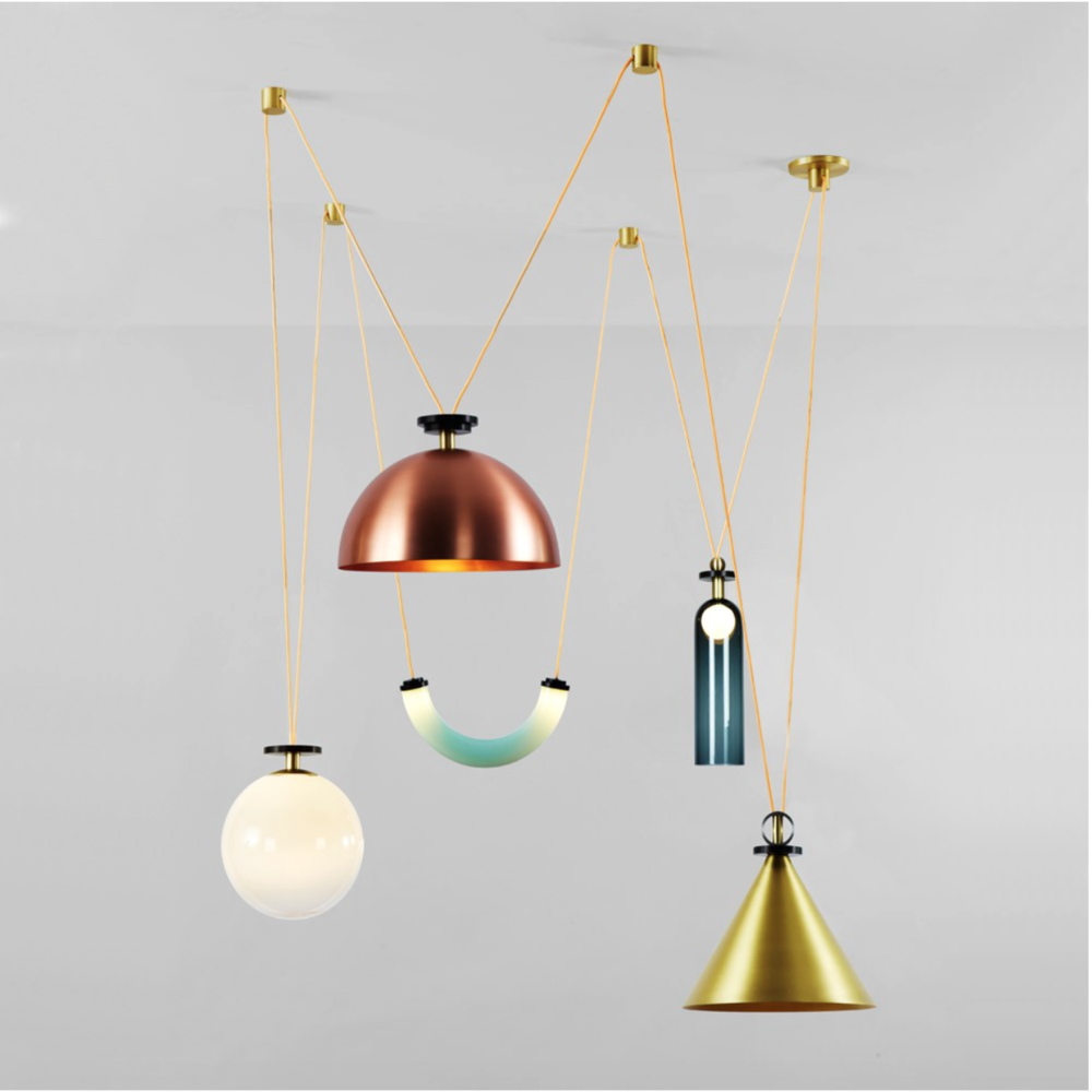 Shape Up Chandelier - Ladies & Gentleman Studio for Roll and Hill