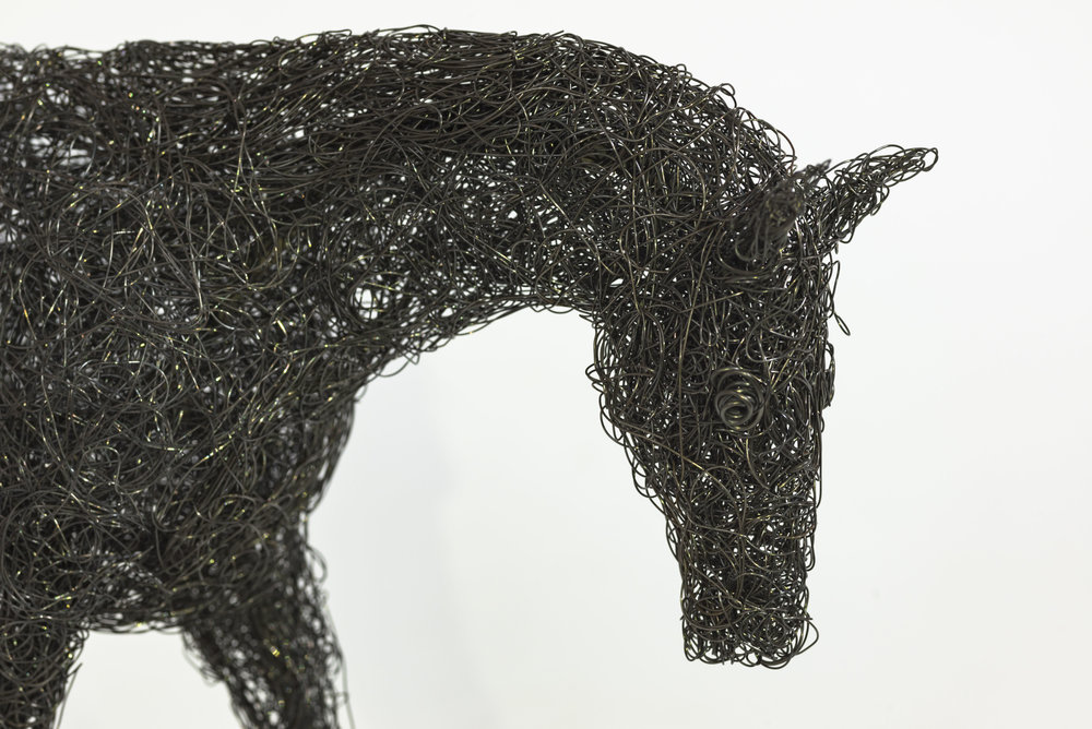 Closeup of a Wire Horse Head