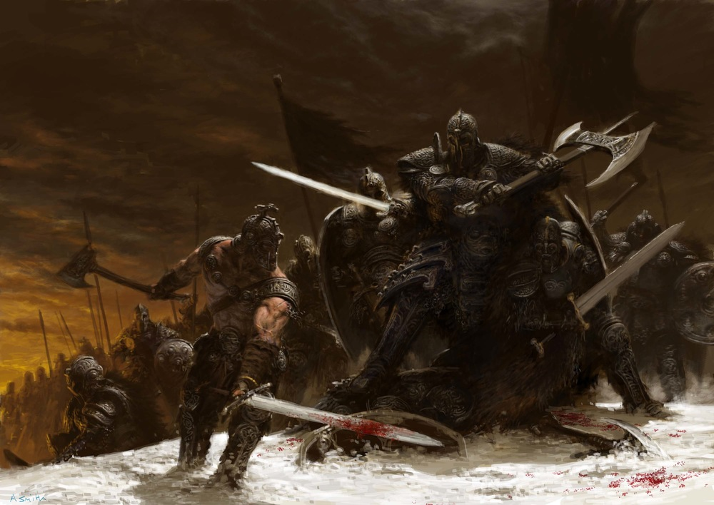 Fight in the Snow  by  Adrian Smith
