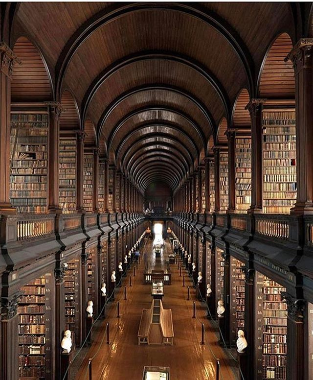 Ireland is definitely on our list of destinations to visit in the future. The beauty of Trinity College Library in Dublin, Ireland is only increasing that desire to go soon!
