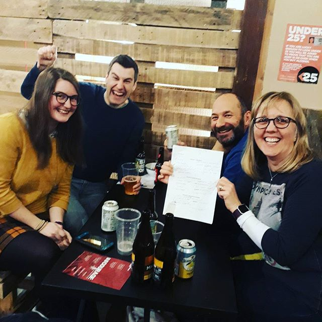 Winners of the #Quiznight