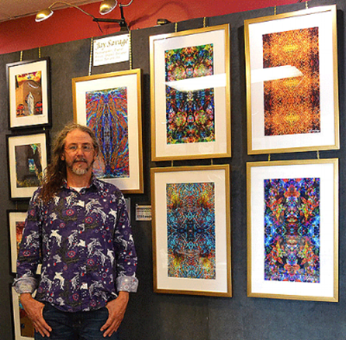 KALEIDOSCOPES AT THE QUILLIN-STEPHENS STUDIO & GALLERY.                      PHOTO BY SALLY QUILLIN.