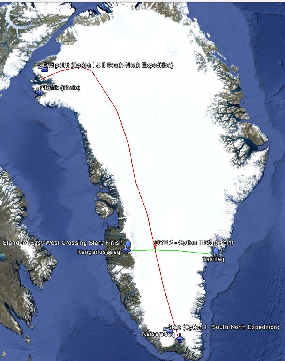 Greenland 2016 Route Map