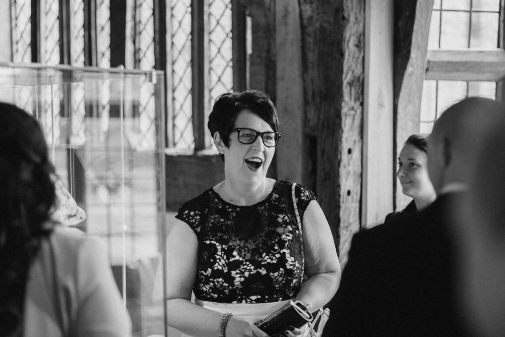 A Happy Guest at Ordsall Hall Wedding Venue