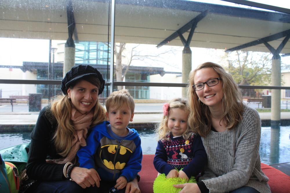 Daniela Miller, Luke Miller, Harper Stone and Melissa Stone at Cranky Bear.