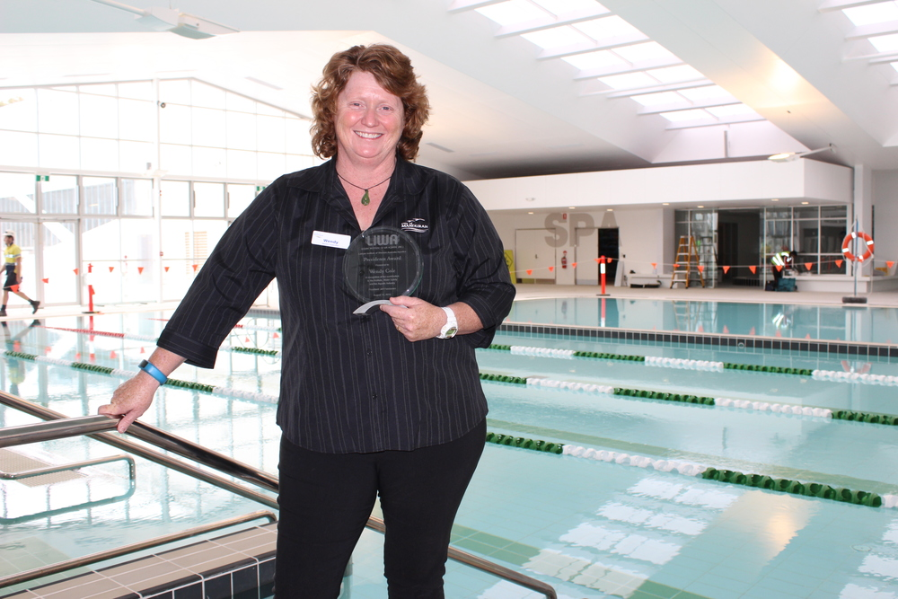 MARC Aquatic Supervisor Wendy Cole was awarded the Leisure Institute of WA Aquatics Presidents Award on Monday night.