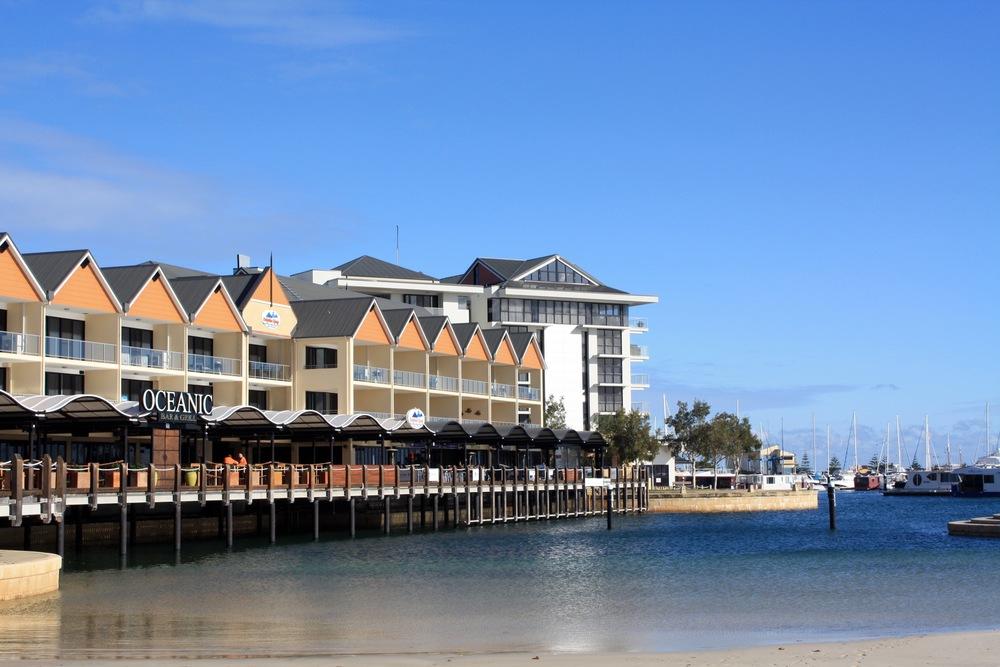The Mandurah Marina is a popular spot.
